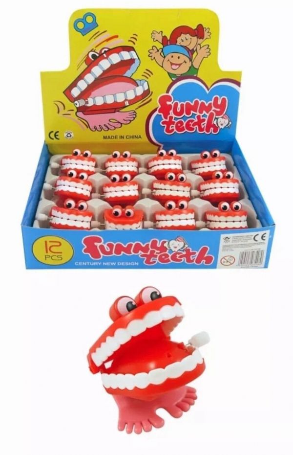 Box of 12 Joke Chattering Teeth for Birthday Party Novelty Toys Favors & Party Bag Fillers